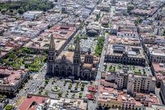 La vue aère de Guadalajara Image libre de droits