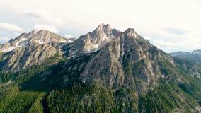 La vue aérienne d'une forêt de l'Idaho et le McGown font une pointe en été clips vidéos