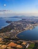 La vue aérienne de Fukuoka Images libres de droits