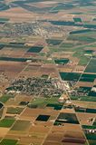 La vue aérienne de la culture de terre de ferme met en place aux Etats-Unis Images libres de droits