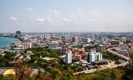La vue aérienne de la ville de Pattaya Image libre de droits