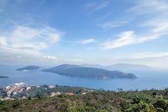 La vue aérienne de paysage de Burgazada est troisièmement - la plus grande de princes Islands image libre de droits