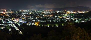 La vue aérienne de paysage pendant la nuit de Khao a sonné Images libres de droits
