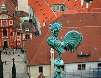 La vue aérienne de Prague Photo libre de droits