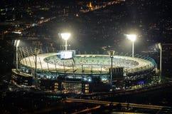 La vue aérienne du cricket de Melbourne a rectifié dans l'Australie Image stock