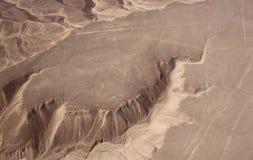 La vue aérienne du Nazca raye sur la colline - colibri Images stock