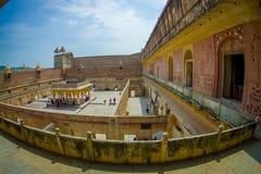 La vue aérienne du palais d'Amber Fort, est l'attraction touristique principale dans la région de Jaipur, près de Jaipur au Ràjas Photographie stock