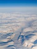La vue aérienne du stationnement national d'Auyuittuq, Baffin est. Image libre de droits