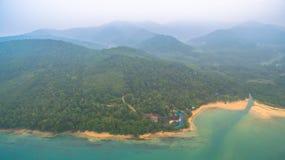 la vue aérienne Koh Yao Yai est en Phang Nga, Thaïlande image libre de droits