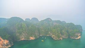 la vue aérienne Koh Yao Yai est en Phang Nga, Thaïlande images stock