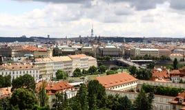La vue au-dessus de Prague Photos stock