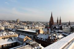 La vue au-dessus de Wiesbaden Photos libres de droits