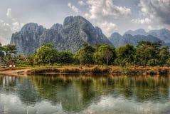 La vue au-dessus des montagnes Photo libre de droits