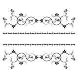 La vue avec des monogrammes pour la conception et décorent. Images stock