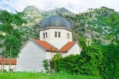 La vue avec l'église Photographie stock