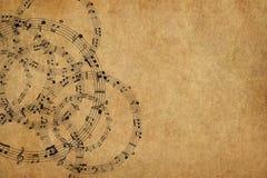 La vue avec la musique note le fond Photos libres de droits