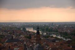 La vue d'Heidelberg Photo libre de droits