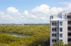 La vue d'oeil d'oiseaux du bonita jaillit la Floride Image libre de droits