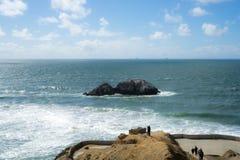 La vue dans l'extrémité de terres, San Francisco Images libres de droits