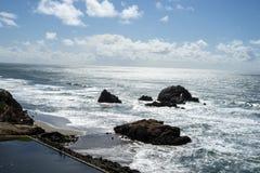 La vue dans l'extrémité de terres, San Francisco Photos stock