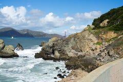 La vue dans l'extrémité de terres, San Francisco Photographie stock libre de droits