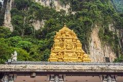 La vue dans le Batu foudroie, près de Kuala Lumpur, la Malaisie images stock