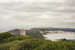 La vue de la baie du sao Martinho font Porto Photographie stock libre de droits