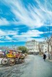 La vue de Burgazada est troisièmement - la plus grande de princes Islands photos stock
