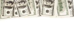 La vue de cent dollars est étroite avec un endroit pour le texte images libres de droits