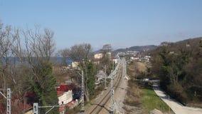 La vue de chemin de fer à partir du dessus clips vidéos