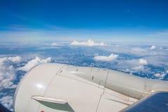 La vue de ciel de l'avion Image libre de droits