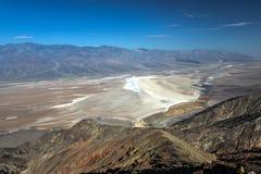 La vue de Dante, Death Valley Photos stock