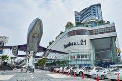 La vue de face du terminal 21 Pattaya de centre commercial photos libres de droits