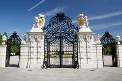 La vue de face merveilleuse de la voie de base du palais de belvédère luttent dedans images stock