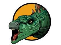 La vue de face de Stegosaurus montrant les plats a arrangé en bas de l'épine illustration libre de droits