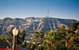 La vue de Hollywood signent dedans Los Angeles photos libres de droits