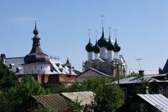 La vue de l'anneau d'or de la Russie - la ville de Rostov Veliky dans la région de Yaroslavl photos libres de droits