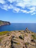La vue de l'Océan Atlantique ouvert et calme le long du sugarloaf images stock