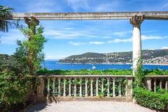 La vue de la baie de Villefranche-sur-Mer Photographie stock libre de droits