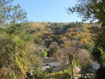 La vue de la gamme de montagne près de Gelendzhik Image libre de droits