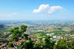 La vue de la montagne de Titano Photographie stock