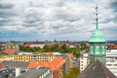 La vue de la tour ronde à Copenhague Images stock