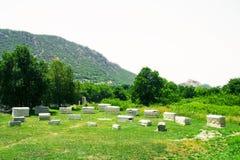 La vue de la ville antique d'Ephesus Photo stock