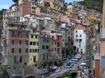La vue de Manarola, Cinque Terre, Italie Photographie stock