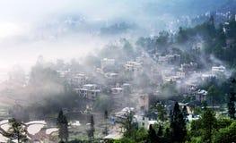 La vue de Menyuan, Yunnan Images libres de droits
