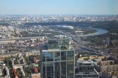 La vue de Moscou de la tour de fédération image libre de droits