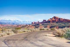 La vue de Mt Waas et voûtes garent le plateau Photographie stock libre de droits