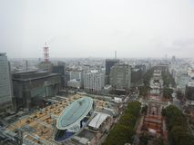 La vue de Nagoya ci-dessus photo stock