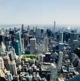 La vue de New York City d'Empire State Building photographie stock libre de droits
