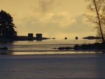 La vue de notre archipel et du voir gèle Image stock